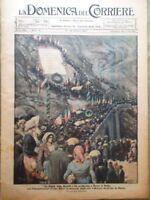 La Domenica del Corriere 17 Ottobre 1920 Pace Russia Polonia Sagra Majella Como