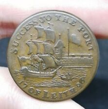 Scotland Leith Lothian Half Penny Conder Token 1796 Good Coin D&H 59