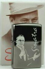 Rare Retired Frank Sinatra Black Ice Zippo Lighter