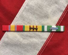 Vietnam Campaign, Vietnam Service With 3 Campaign Stars Mounted 3 Ribbon Bar set