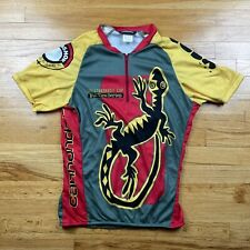Vtg Cannondale Cup USA Fat Tire Series Gecko Quarter Zip Racing Jersey Shirt M