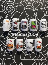 Hello kitty Halloween Nail art (water decals)