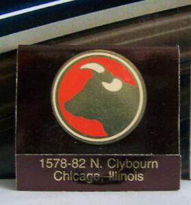 Rare Vintage Matchbook F2 Chicago Illinois Golden Ox Restaurant German Oldest