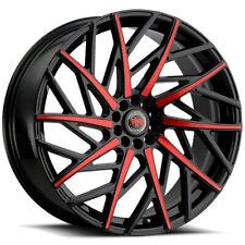 4 Revolution R21 18x8 5x1105x45 40mm Blackred Wheels Rims 18 Inch Fits 2011 Toyota Camry