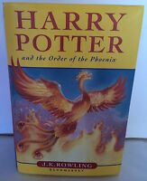 First Edition Harry Potter And The Order Of The Phoenix Hardback Book JK Rowling