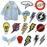 Personalized Embroidered Lightning Bolt Patch Boy Embroidered Patch Custom Patch