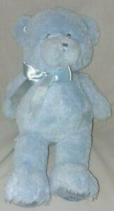 """14"""" Baby GUND My First Teddy Bear Stuffed Animal Plush in Blue Lovey"""