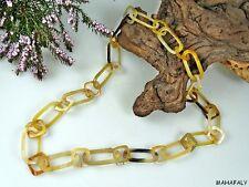 CORNO anelli catena rivo 4 i colori chiari lucidata 90 cm Africa gioielli bovini CORNO