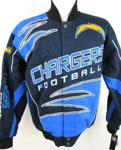 Los Angeles Chargers Mens Size Small Snap Front Twill Jacket ACHG 54