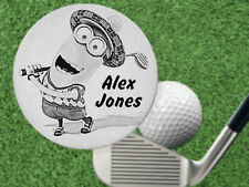 MINION GOLFER Golf Ball Marker. Personalized FREE! Laser Engraved Steel Gift
