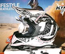 JUST 1 J12 STAMP Cross Helm Enduro Quad Black Weiß NEU XL Yamaha KTM Thor Carbon