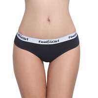 Feelingirl Women's Modern Cotton Underwear Assorted Colors Thong Panties Briefs