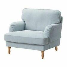 STOCKSUND Armchair SlipCOVER ~ Remvallen Blue/White 503.202.64 || IKEA Brand New