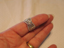 Style Cocktail Engagement Ring Size 8 Sterling Silver Cz Cubic Zirconia Cluster
