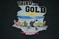 """Tommy Bahama """"Third And Gold"""" T-Shirt Men's Size: Large (L)  Color: Coal  NWT"""