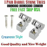 Two New Silver Roller String Tree Guide Retainers. Fast Ship. USA Seller. Nice!