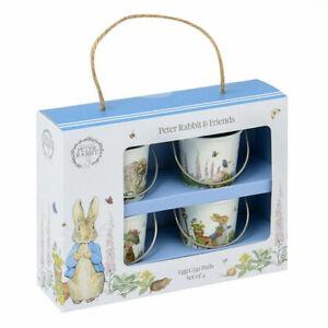 Peter Rabbit Classic Set Of 4 Egg Cup Pails