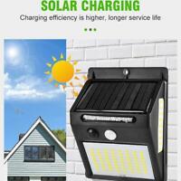 270° LED Solar Power PIR Motion Sensor Wall Light Waterproof Outdoor Garden Lamp