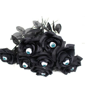 5PCS Halloween Eyeball Rose Flower Decor SImitation Fake With Eye Home  Layout