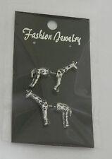 Pair of 3D Giraffe earrings Stud fixings
