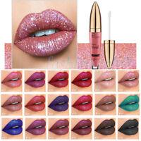 Waterproof Metallic Glitter Matte Liquid Lipstick Makeup Lip Gloss Long Lasting