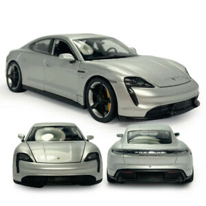 1/24 2019 Porsche Taycan Turbo S Coupe Model Car Diecast Vehicle Kids Toy Silver