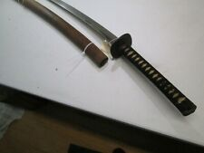 OLD KATANA JAPANESE SAMURAI SWORD WITH SCABBARD WIDE LONG BLADE OLD MOUNTS #SY1