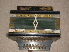 """Interesting, very old  2 row  diatonic button accordion  """"Friedrich Gessner"""""""