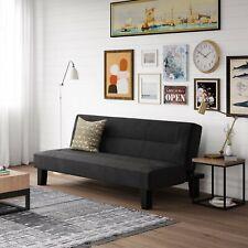 "Futon Sofa Bed 65"" 3-Position Microfiber Black For Dorm Office Etc - Brand New!"