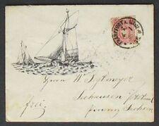 s473) Imperio Alemán DR MiNr 33 Barco de vela Letra decorativa 1880 gp BPP