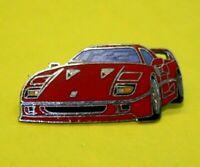 Pin's lapel pin enamel pins FERRARI F40 ROUGE EGF Signé F 40 1987 (RARE VINTAGE)