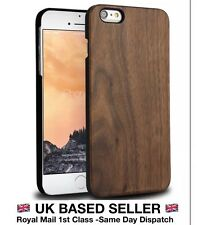 IPHONE 6/6S WALNUT CASE NATURAL  REAL WOOD HARD BACK EXTRA SLIM LUXURY COVER