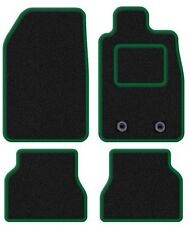 SUBARU FORESTER 2009 ONWARDS TAILORED BLACK CAR MATS WITH GREEN TRIM