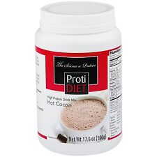Proti Diet High Protein Hot Cocoa Drink Mix - 17.6 oz Jar - Protidiet