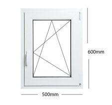 Fenêtres PVC Aluplast couleur blanche avec Différentes Largeurs choix Maison 50 x 60 cm gauche