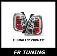 FIAT 500 FARI FANALI POSTERIORI A LED CROMATI LEXUS TUNING ABARTH