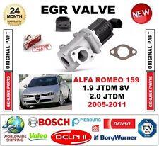 Per ALFA ROMEO 159 1.9 JTDM 8V 2.0 JTDM 2005-2011 VALVOLA EGR 2 PIN CON GUARNIZIONI