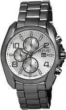 August Steiner AS8109BK Swiss Quartz Month Day Date GMT Gunmetal Mens Watch