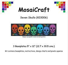 MosaiCraft Pixel Craft Mosaic Art Kit 'Seven Skulls' Pixelhobby
