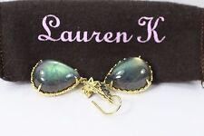Gorgeous Lauren K Huge Labradorite Moonstone Diamond Drop Earrings