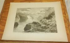 1874 Print/POINT NOIR,TRINITY ROCK,CAPE ETERNITY,SAGUENAY RIVER, QUEBEC, CANADA