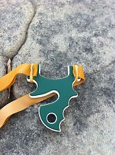 """HELLCAT"" TTF HDPE Theraband Gold Burly thrower .  survival hunting slingshot."