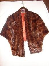 Vintage Fine Furs Haeker Furriers Alma, Nebraska Mink Fur Wrap ~ Mink Stole