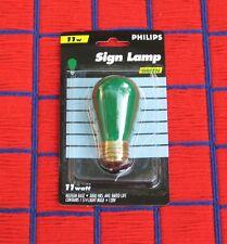 Christmas Mardi Gras GREEN sign 11 watt 11S14 outdoor 11w string LIGHT BULB S14
