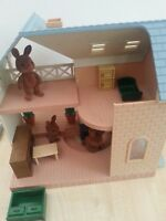 SYLVANIAN FAMILIES BLUEBELL Cottage RIVERSIDE House LODGE & Rabbit Family