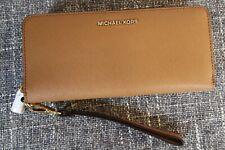 New MICHAEL KORS Jet Set Leather Continental Wallet Clutch Wristlet Travel Purse