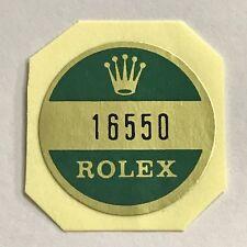ROLEX 16550 FONDELLO Adesivo certificato Vintage Explorer II Avorio Panna OEM NOS