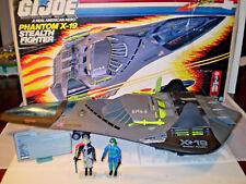 1988 GI JOE PHANTOM X-19 STEALTH JET 100% COMPLETE & PILOT GHOSTRIDER ARAH RARE