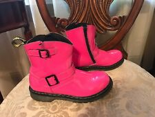 Dr. Martens Kid's Collection Hot Pink Boots Size 4