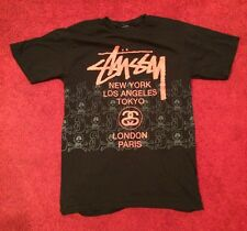 Stussy World Tour Tee - M - Black - 3M Reflective Skulls